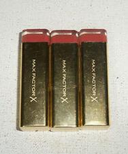 3 tube lot MAX FACTOR X COLOUR ELIXIR LIPSTICK 735 MAROON DUST unsealed