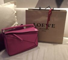 Loewe Puzzle Small Hot Pink Leather 2-Way Hand Bag Shoulder Bag