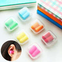 Earplugs Soft Foam Plugs Candy-Color Noise Prevention Snore Sleep 1/2/5 Pairs mz