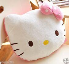 Cute Hello Kitty Plush Back Cushions Car Office Lumbar Support Throw Pillow