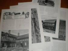 Article photographs Smithills Hall Lancashire 1902