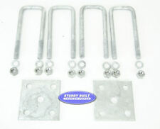 Boat Trailer Axle U Bolt Kit Galvanized 1/2 Inch x 2 1/16 Inch x 6 5/16 Inch