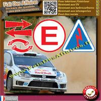 6 Sticker Autocollant sécurité rallye coupe circuit extincteur flèche remorquage