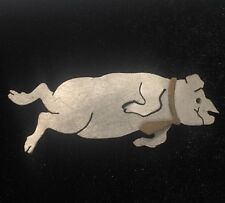 Vintage Flying Pig Pin / Brooch Pig Fly Silver Tone Metal