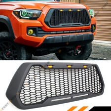 FOR 2016-19 TOYOTA TACOMA OFFROAD FRONT HOOD HONEYCOMB MESH GRILL+ LED CAB LIGHT