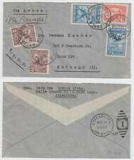 ARGENTINA 1929, OCT 11 PANAGRA FF COVER POSTED 1 DAY EARLIER BS AIRES-MIAMI-NY