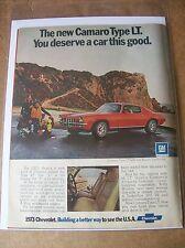Original 1973 Chevrolet Camaro Type LT Magazine Ad - You Deserve a Car This Good