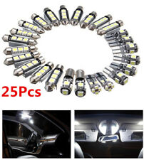 25 Pcs Car Truck Interior White LED Light Bulb Kit for Dome&Map&Reading Lamp 12V