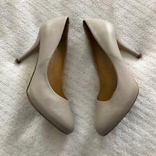CHARLES JOURDAN Paris Pumps Shoes Nude Tan US Size 8/38 Vintage High Heels EUC
