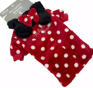 NWT Disney x Primark Halloween Minnie Mouse Dog Dress Pet Outfit Costume Hood S