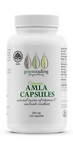 Organic Amla Capsules 120 Veggie Capsules Green Trading