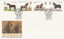 1978 Horses Full Set with Special Horses of Britain Kenilworth Special  Postmark