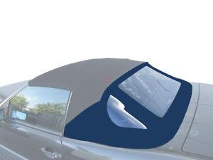 Stoff Verdeck-nur Heckscheibenteil 1989-2001 Cabrio , blau für Mercedes R129 SL