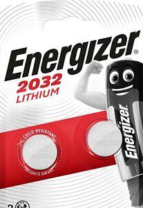 4 x Energizer Batterien  CR2032 Lithium 3V Knopfzelle   2 x Blister   9-10 Jahr