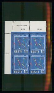 MayfairStamps Estonia 1994 Ski Jumping Lillehammer Block Olympics MNH Stamps wwo
