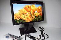 "Dell UltraSharp 1909W P1911 19"" LCD Monitor 4-Port USB Hub VGA DVI Y320G V8MM9"