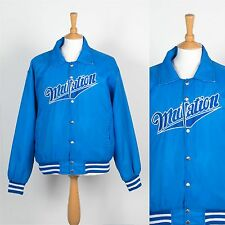 VINTAGE MENS BLUE MUTATION BASEBALL JACKET VARSITY SPORTS USA HIGH SCHOOL L