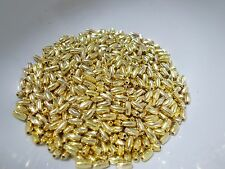 900pcs 6mm x 3mm Acrylic RICE Oval Beads - Gold Plated / Golden Metallic
