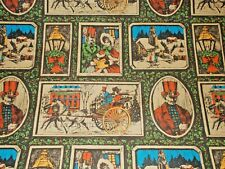 Vtg Christmas Hallmark Wrapping Paper Gift Wrap Nos 1960 Victorian Scenes