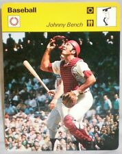 "Cincinnati Reds Johnny Bench 1977 MLB Baseball Sportscaster 6.25"" Card 04-22"