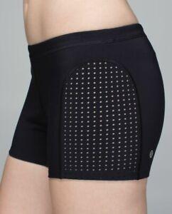 "LULULEMON Black Sweat 2 Swim Water Short Shorts Warpstreme 4"" Inseam"