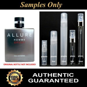 Chanel Allure Homme Sport Eau Extreme Sample 2ml 5ml 10ml - FREE POST & TRACKING