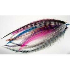 10 Real Feather Mix  Hair Extension 4-5.5 Long Includes 4 Silicone Micro-ring Be