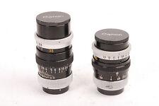 Objectif pour camera Canon lens C-8. f/1.8 -6,5mm N°14693 et f/1.8 -38mm N°17973