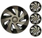 4 x Graphite Grey Wheel Trims Hub Caps 15