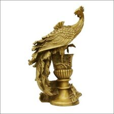 Chinese Royal  Pure Brass Copper Phoenix  Phenix Bird God Palace Decor Statue