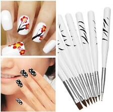 8pcs Acrylic Nail Art Brush Nail Dotted Painting flowers Art Coloured pen Set