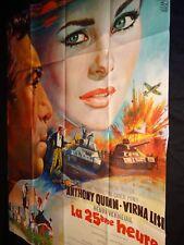 LA 25ème HEURE anthony quinn virna lisi affiche cinema  mascii 1967