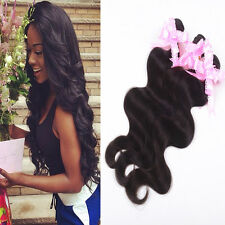 100%6A Virgin Peruvian Body Wave Hair Weft Human Hair Extensions 3 Bundles/150g
