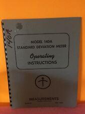Boonton Model 140a Standard Deviation Meter Operating Instructions
