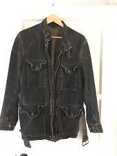 "Rare Vintage Belstaff ""Black Prince"" Denim Motorcycle Jacket. Made In Italy."