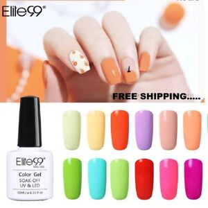 Elite99 Soak off Color Gel Polish Top Base Coat Manicure Nail Art Lacquer UV LED