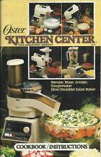 Oster Kitchen Center Cookbook Instructions Vintage 1982 80's