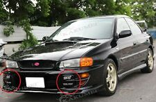 Solid Fog light Lamp Covers with Bracket & Decal for Impreza WRX STi GC8 GF8 FRP