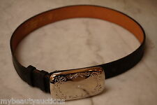 Black Top Grain Steerhide Leather Belt. 26 Inch. Strap / Snap On Buckle. Unisex.