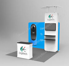 Trade show Display booth  10ft tower (TV stand, Display shelves) 10ft tall