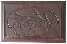 Antique Black Forest Hand Carved Walnut Wood Edelweiss Jewelry Box