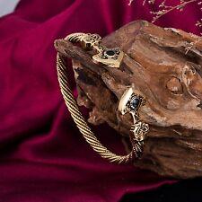 Thunder Torque Norse Viking Thor's Hammer Womens Nail Bracelet Cuff Bangle Men