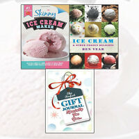 Skinny Ice Cream Maker Recipes With Gift Journal 2 Books Collection Set Pack NEW