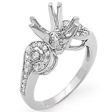 0.35 Ct Round G VS2 Real Diamond Wedding Setting Engagement Ring 14k Gold White