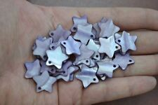 """100 PCS DYED PURPLE STAR BLANK SHELL BEADS CHARMS 3/4"""" #T-1201"""