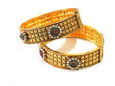 Polki Cz Filigree Broad 2.8 Nr 2 Bangle Bracelet Kada Fantastic Floral Designer