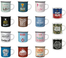 Auswahl - la vida Emaille Kaffee- Tee- Camping- Picknick- Outdoor- Tasse Becher