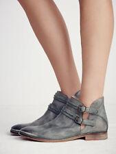 Free People BRAEBURN Distressed Verdigris Leather ankle boots size 6 EUR 36