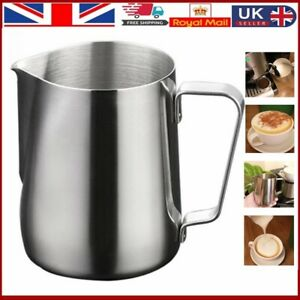 MilkCup Frothing Jug Frother Metal Pitcher Stainles Steel Coffee-Latte Container