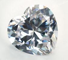 6X6mm AAAAA White Sapphire Gems 1.38ct Heart Faceted Cut VVS Loose Gemstone